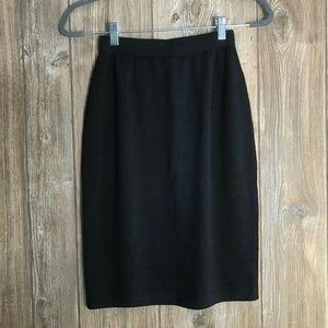 St John Size 2 Navy Blue Santana Knit Pencil Skirt